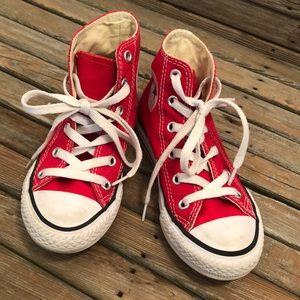 Converse toddler hi tops. Size 11.